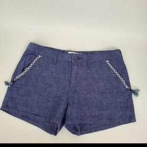 Old Navy boho Chevron Embroidered Chambray Shorts